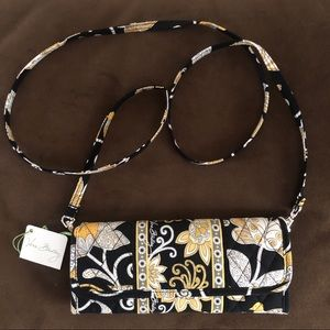 Vera Bradley Sleek Wallet with Strap